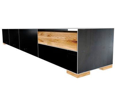 Sideboard design modern  Metallsideboard Rohstahl mit Holz | Design Metallsideboard mit ...